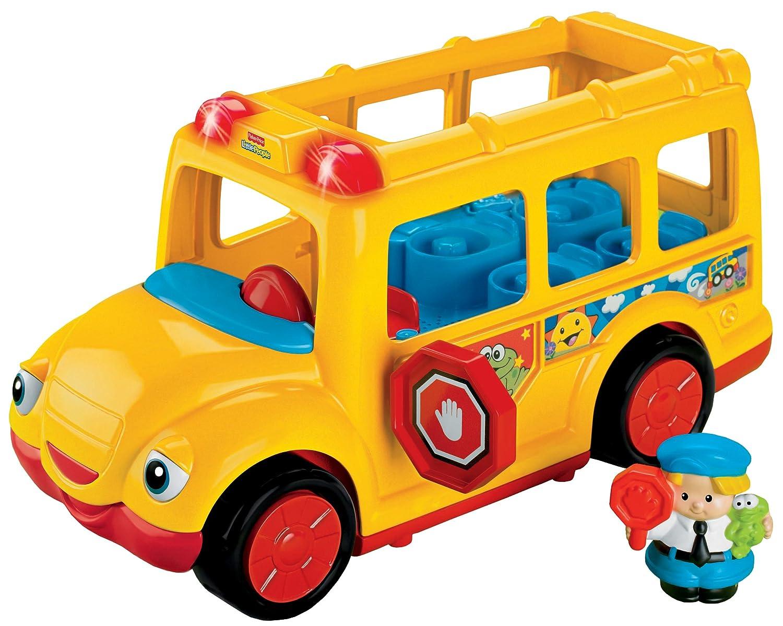Amazon.com: Fisher-Price Little People Stop \'n Surprise School Bus ...