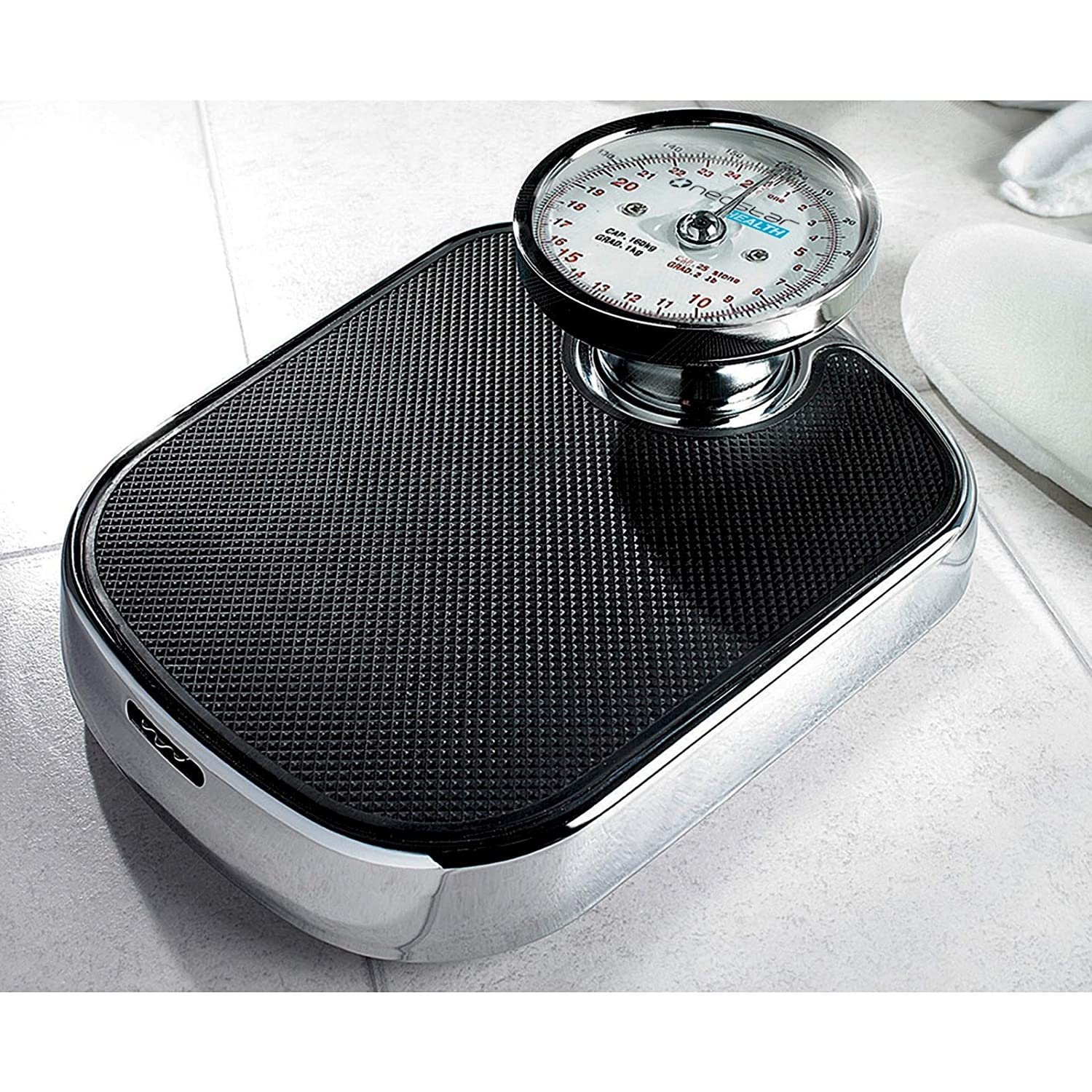 Burwells Mechanical Bathroom Scales With Large Analogue Display 25 Stone 160kg