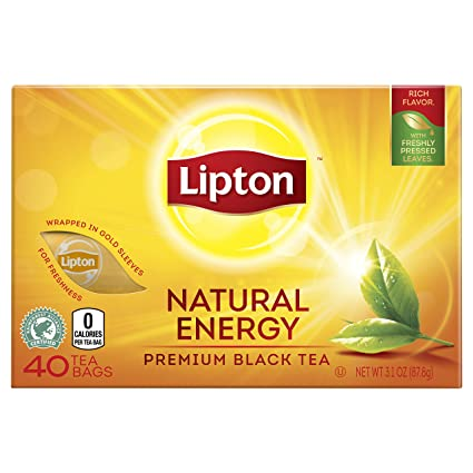 Lipton Natural Energy Premium Black Tea, 40 Count