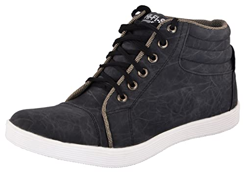b692a3286a8a77 JUMP Men s Black High Top Shoes - 7 UK  Buy Online at Low Prices in ...