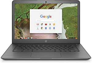 HP Chromebook 14-inch Laptop with 180-Degree Hinge, Intel Celeron N3350 Processor, 4 GB RAM, 32 GB eMMC Storage, Chrome OS (14-ca070nr, Gray)