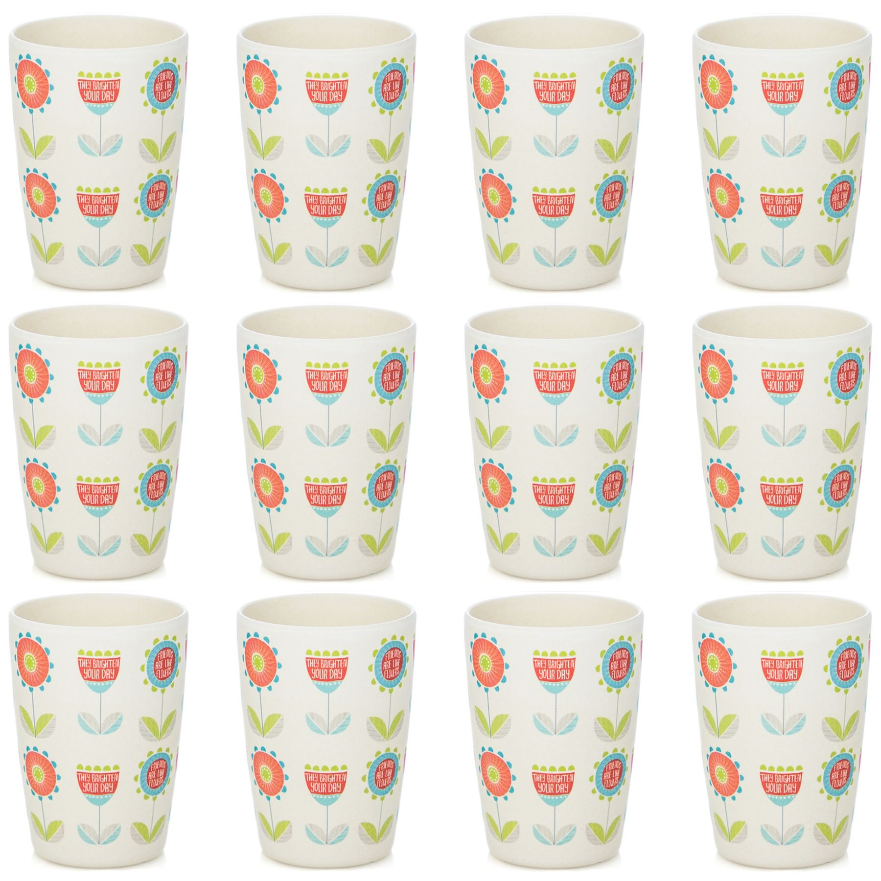 Tiny Dining Children's Bamboo Fibre Juice Cup - Flower - Pack of 12 by Tiny Dining