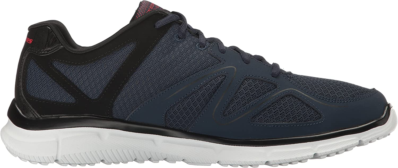 Skechers Herren Satisfaction 58350-bbk Sneaker, Schwarz Schwarz Navy Black