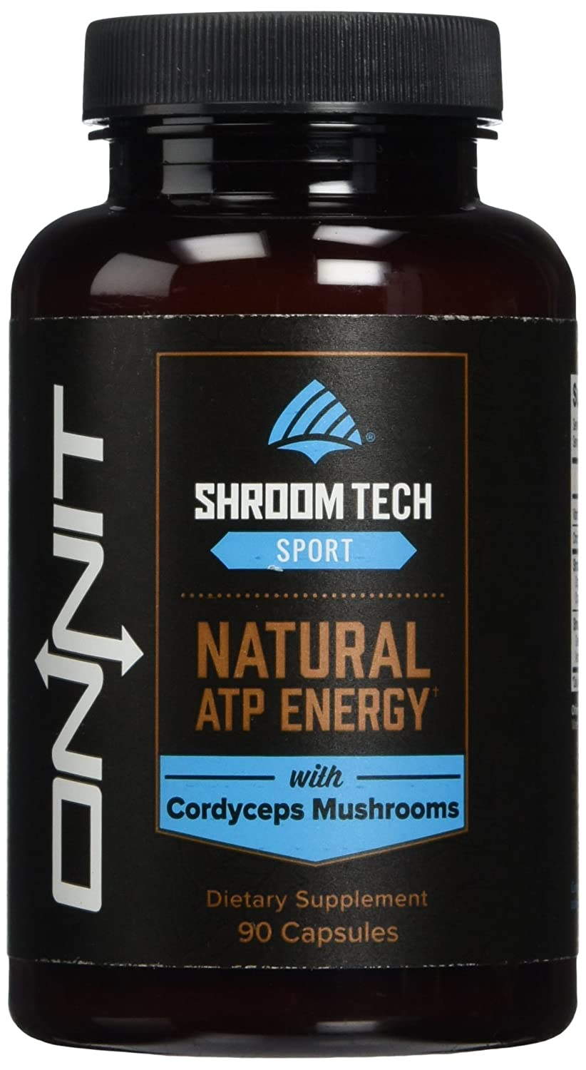 Shroom TECH Sport (90ct) Clean ATP energy. Better oxygen utilization. Faster recovery by Onnit Labs