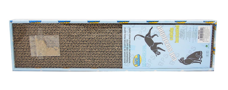 BPS Rascador Gatos Rascador Tabla de Cartón Papel Incluido Hierba Gatera 3 Modelos Elegir 43 x 21 x 4 cm (Tabla Ondulado) BPS-10054: Amazon.es: Productos ...