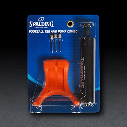 Spalding Football Kit with 6-Inch Single Action Pump//Tee and 3 Needles