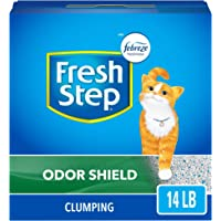 Fresh Step Odor Shield Scented Litter with The Power of Febreze, Clumping Cat Litter