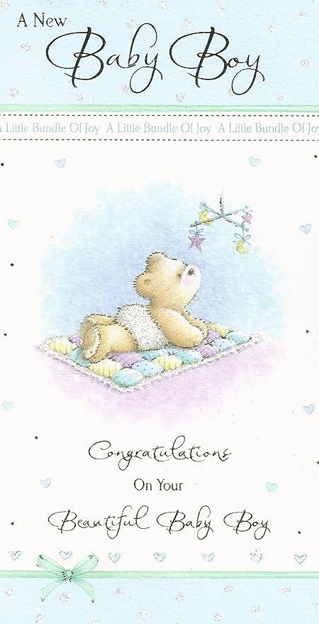 Un Nuevo bebé tarjeta de felicitaciones: Amazon.es: Hogar