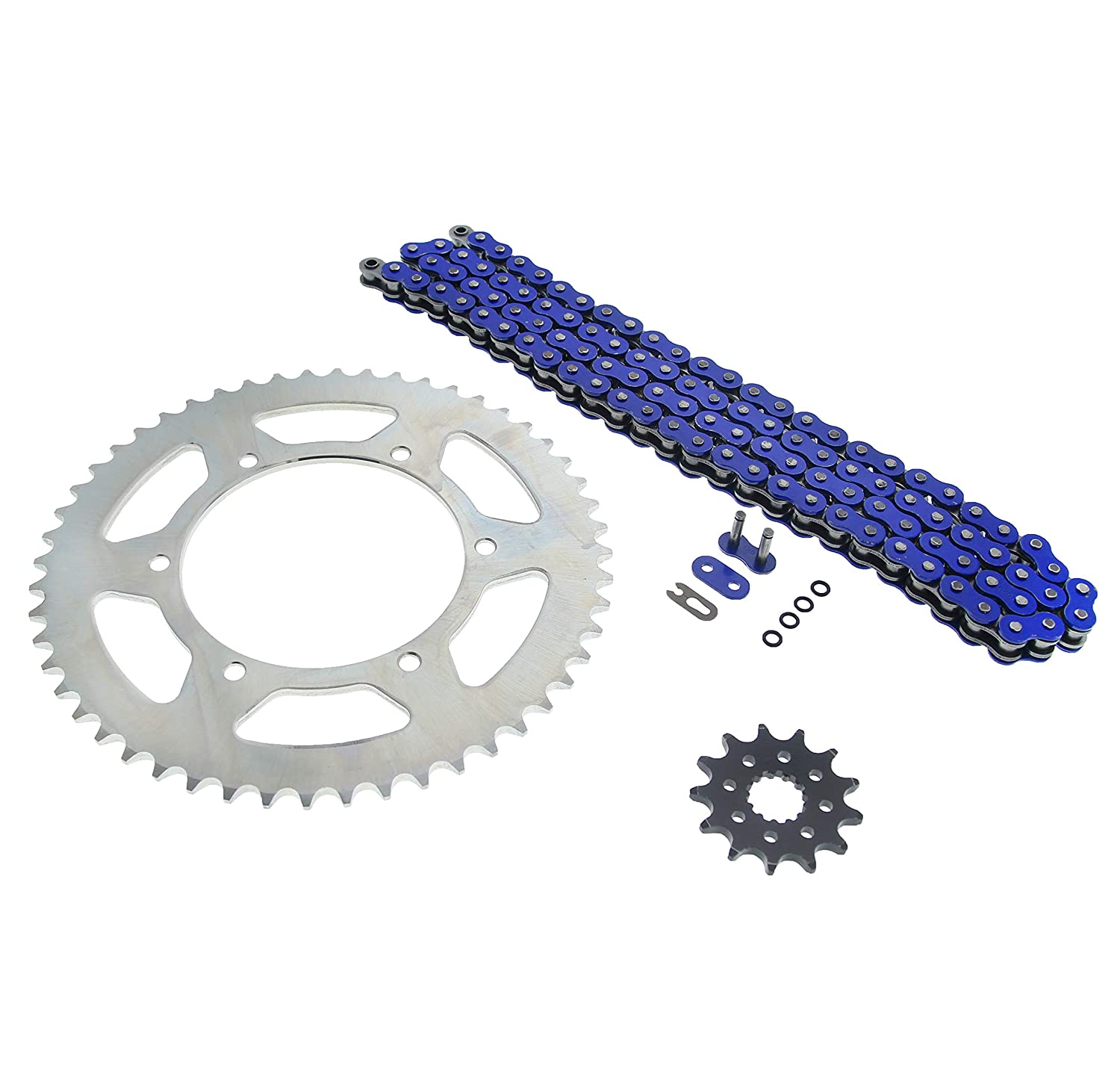 2007-2014 Yamaha WR450F Blue O Ring Chain /& Sprocket Silver 13//52 120L