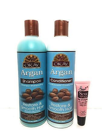 Amazon com : Okay Argan Restore & Smooth Hair Shampoo 12 Oz