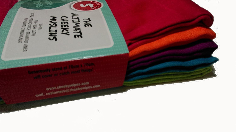 5/St/ück Cheeky Wipes Rainbow Baumwolle Mullwindeln