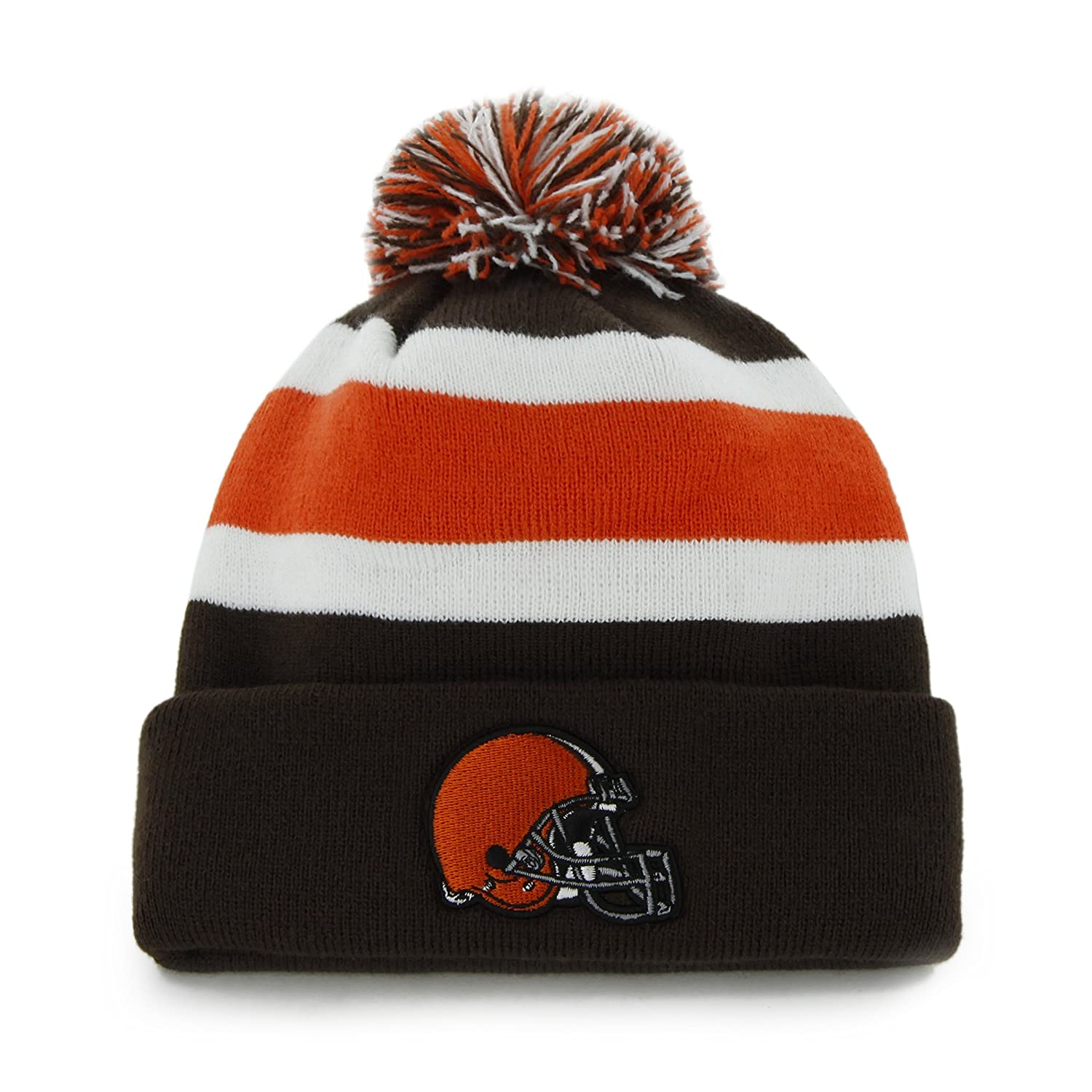 6a302b168 ... france amazon nfl cleveland browns mens breakaway knit cap one size  brown sports fan beanies clothing