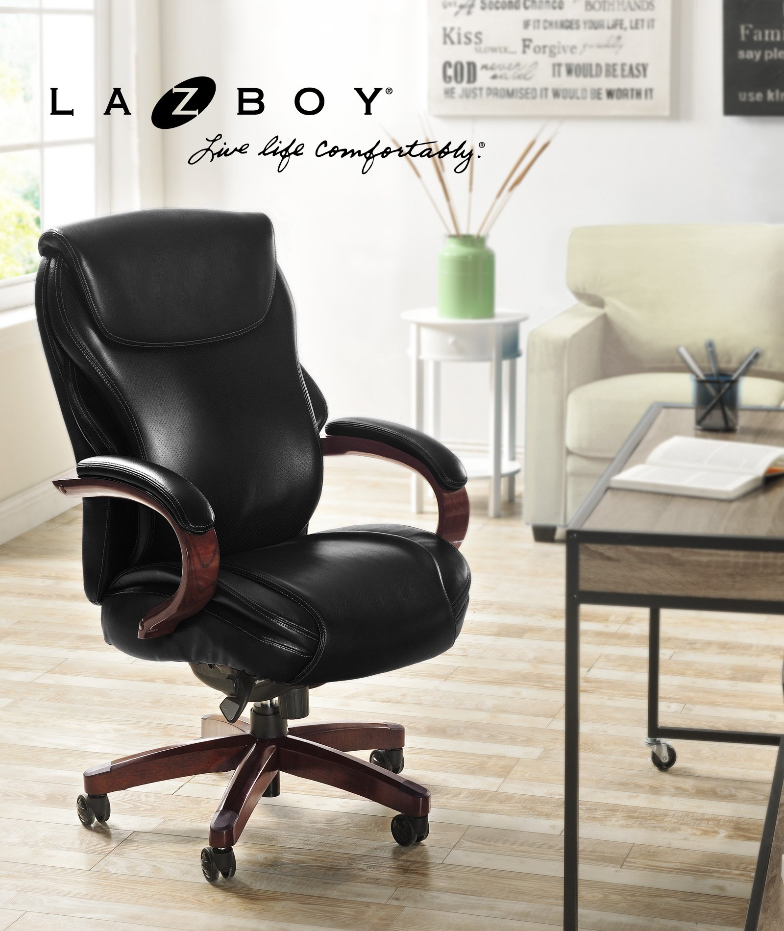 La Z Boy  Hyland Chair Air Technology Office, Executive, Black by La-Z-Boy