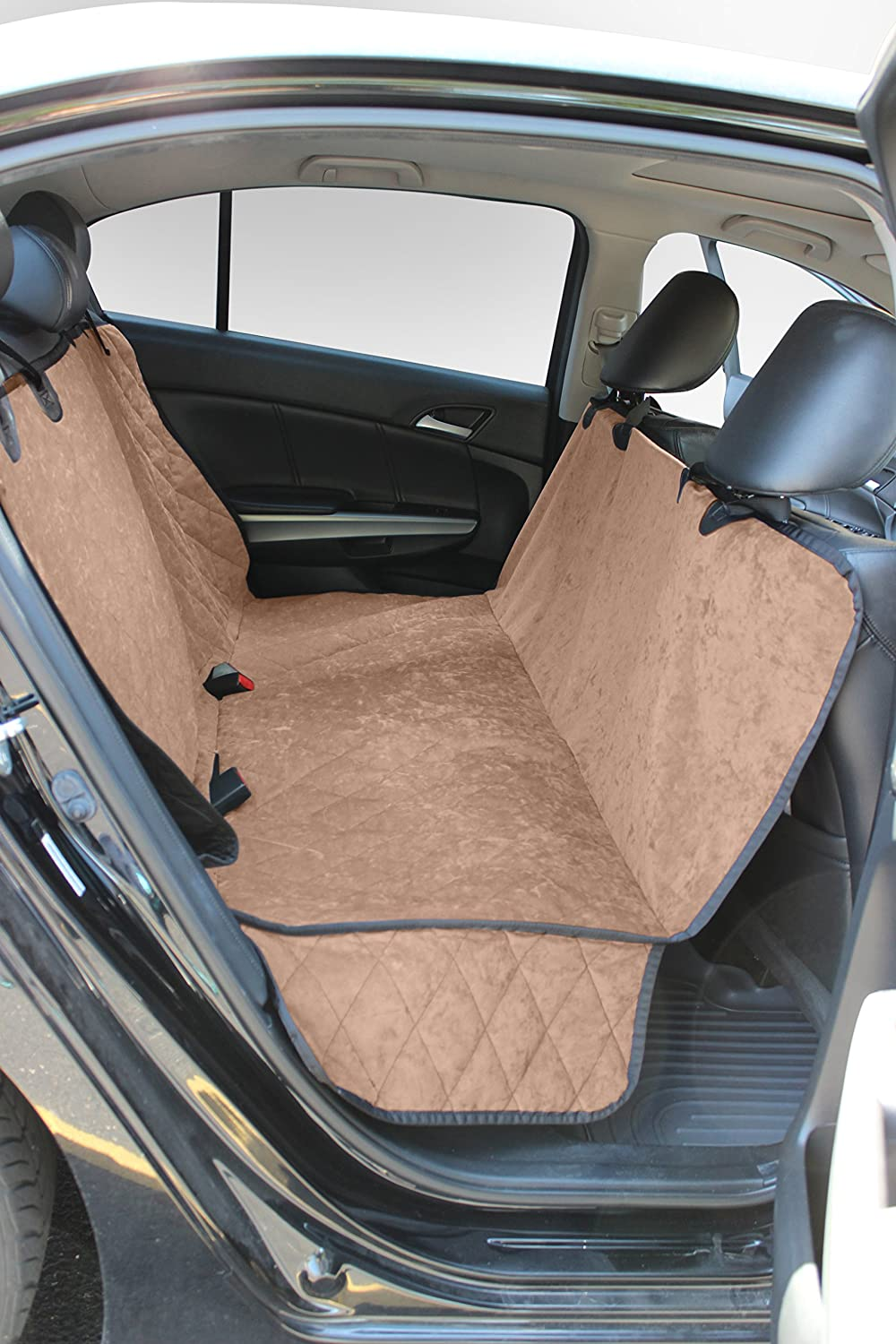 Iced Mocha Buddyrest Smart Suede Hammock Style Seat Predector, Iced Mocha color, Crypton Suede Performance Fabric, Stays Clean, Repels Odors and Rarely Needs Washing, Made in the USA, Infused With Kevlar Thread