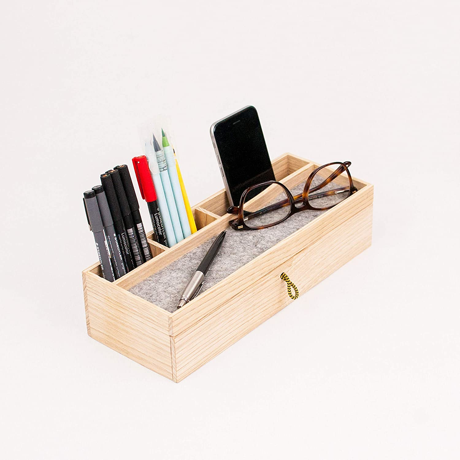 Amazon.com: Wood desk organizer with drawer - Modern office desk