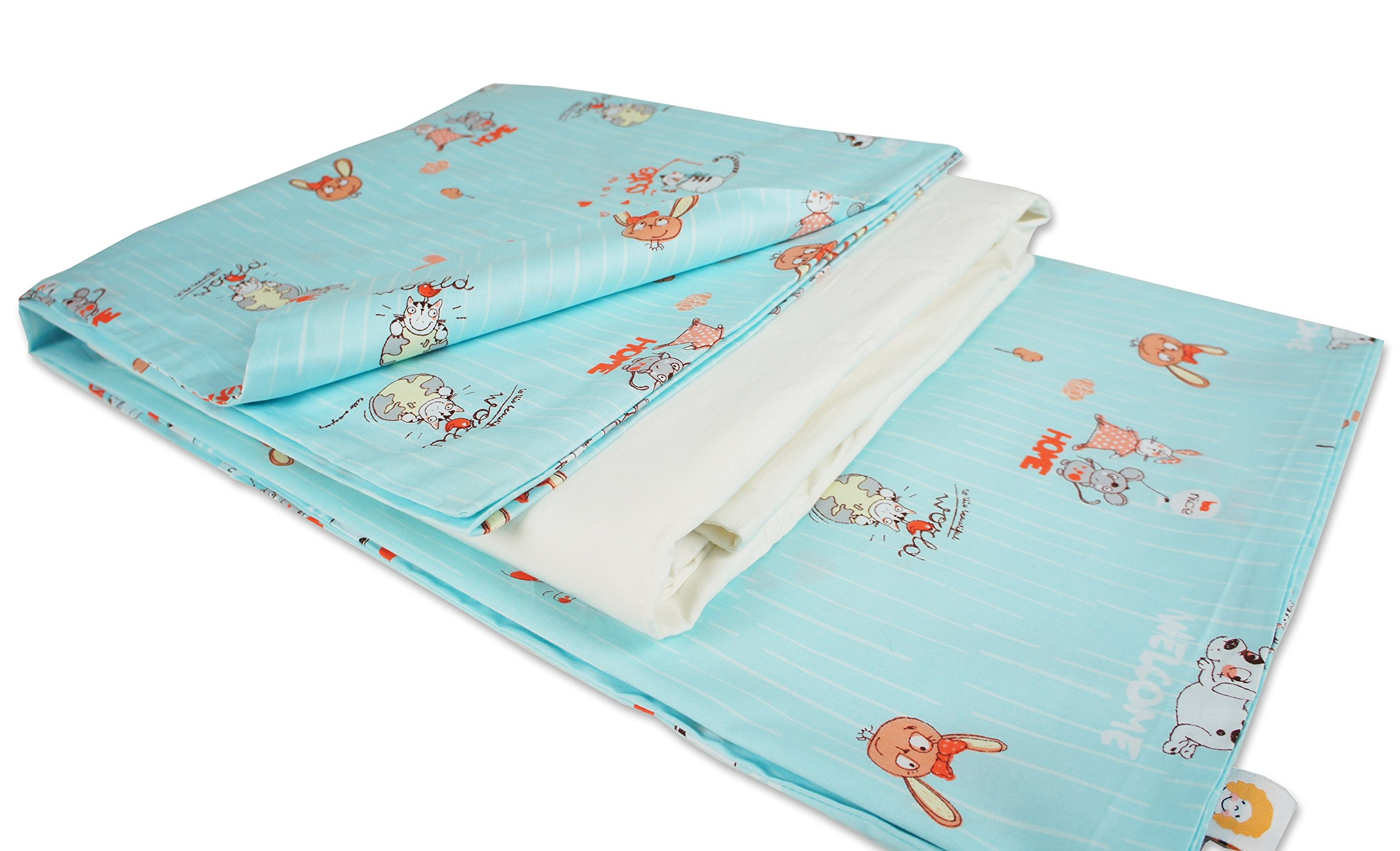 4-season Cotton Flower Toddler Blanket (Quilt + Duvet Cover) (Everyday Nice Day)