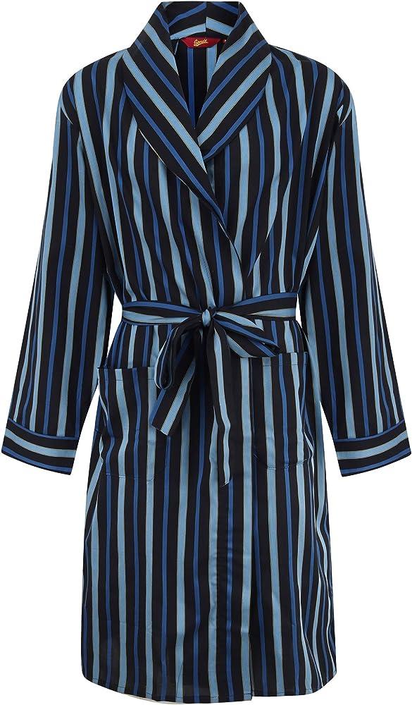 Albornoz ligero de satén de algodón para hombre Azul azul XL: Amazon.es: Ropa y accesorios
