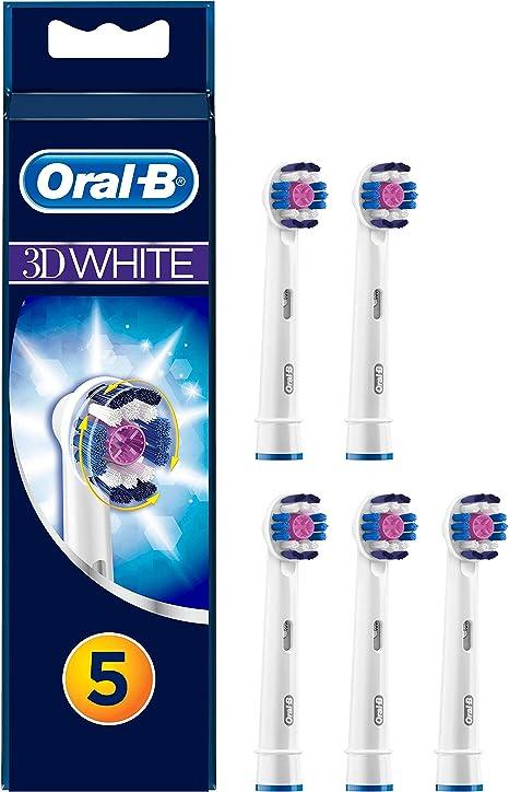 Braun Oral-B 3D WHITE SPAZZOLINO ELETTRICO RICAMBIO RICARICA Spazzole Confezione da 5