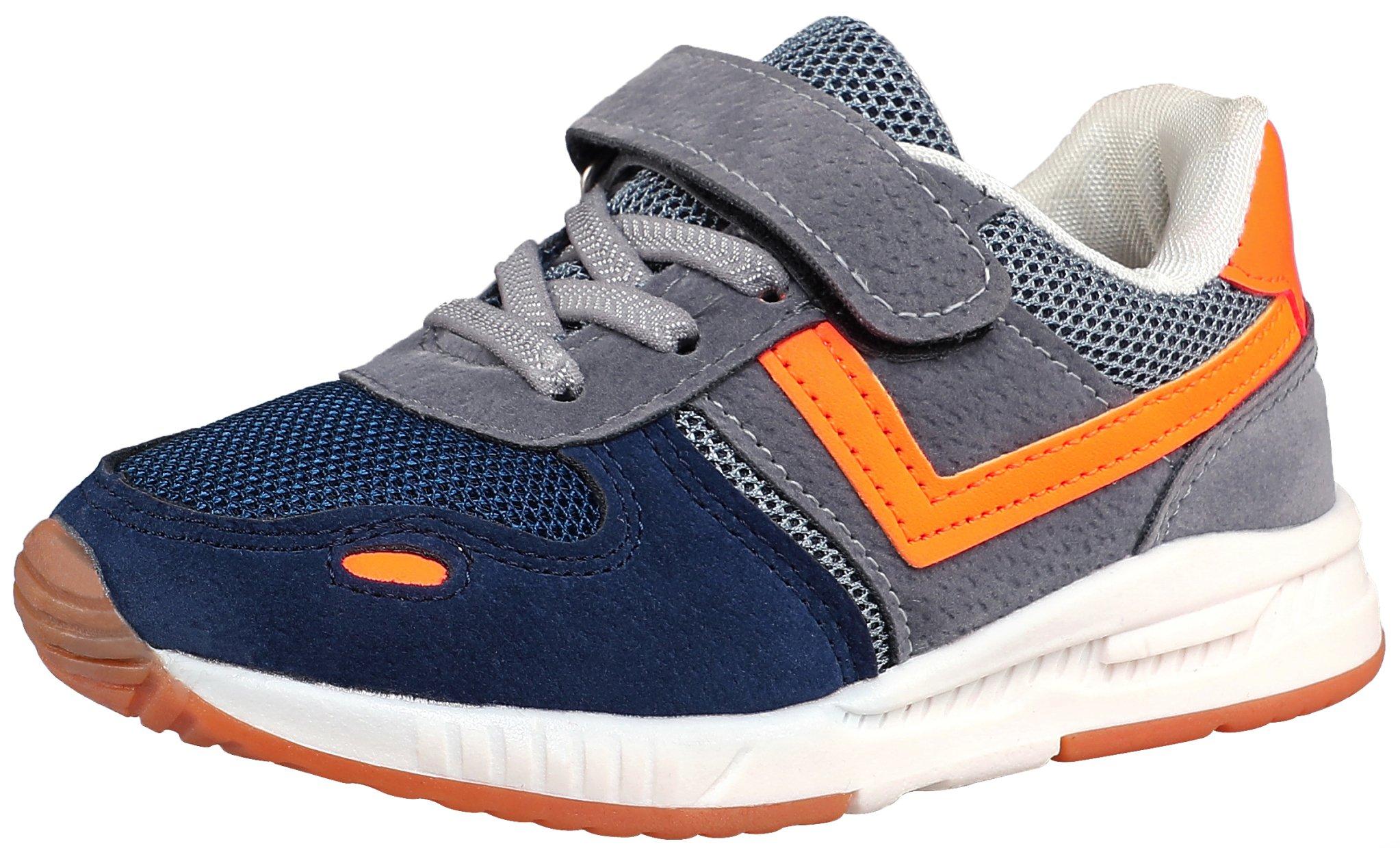 SKOEX Kid's Lightweight Sneakers Boys Girls Casual Sport Running Walking Shoes (Toddler/Little Kid) US Size 11 Grey