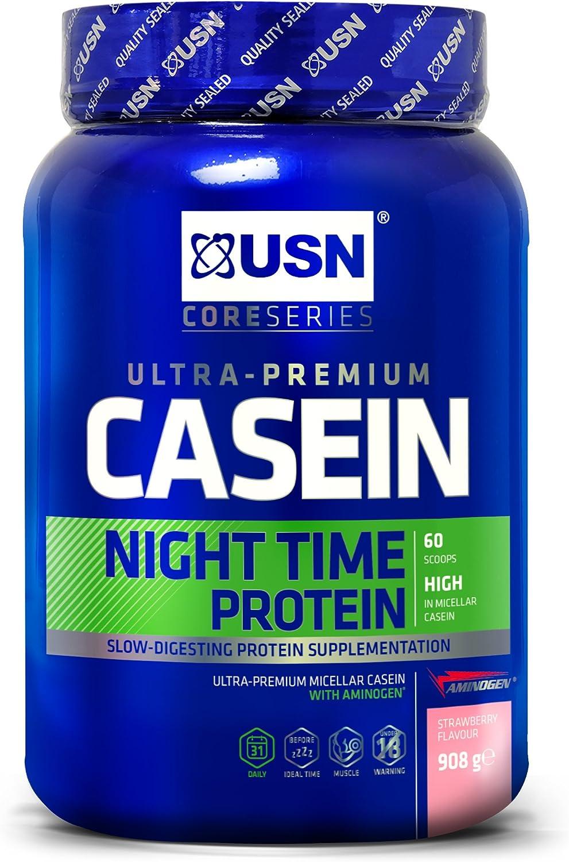 USN Ultra Prima Fresa Caseína Noche Proteína Polvo 910 g ...