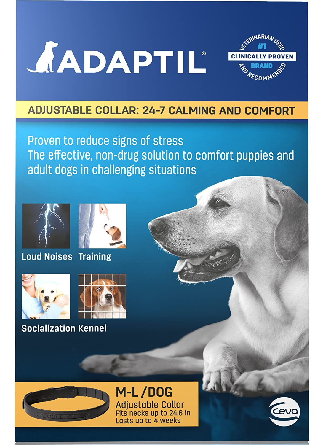 Adaptil Constant Companion Calming Collar, Large (Discontinued by Manufacturer)