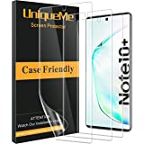 [3 Pack] UniqueMe Screen Protector Compatible with Samsung Galaxy Note 10 Plus/Samsung Galaxy Note 10+ / Note 10 Plus 5G,[Fingerprint Available] TPU Film with Lifetime Warranty