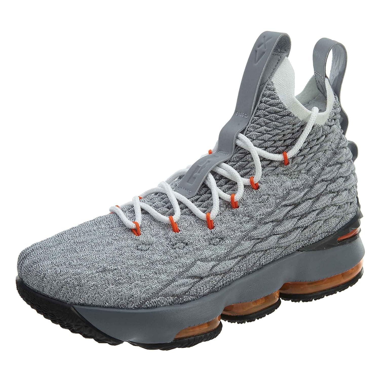 sports shoes b509d 2c9ab Nike Youth Lebron 15 Boys Basketball Shoes Black/Safety Orange/Wolf Grey  922811-080 Size 7