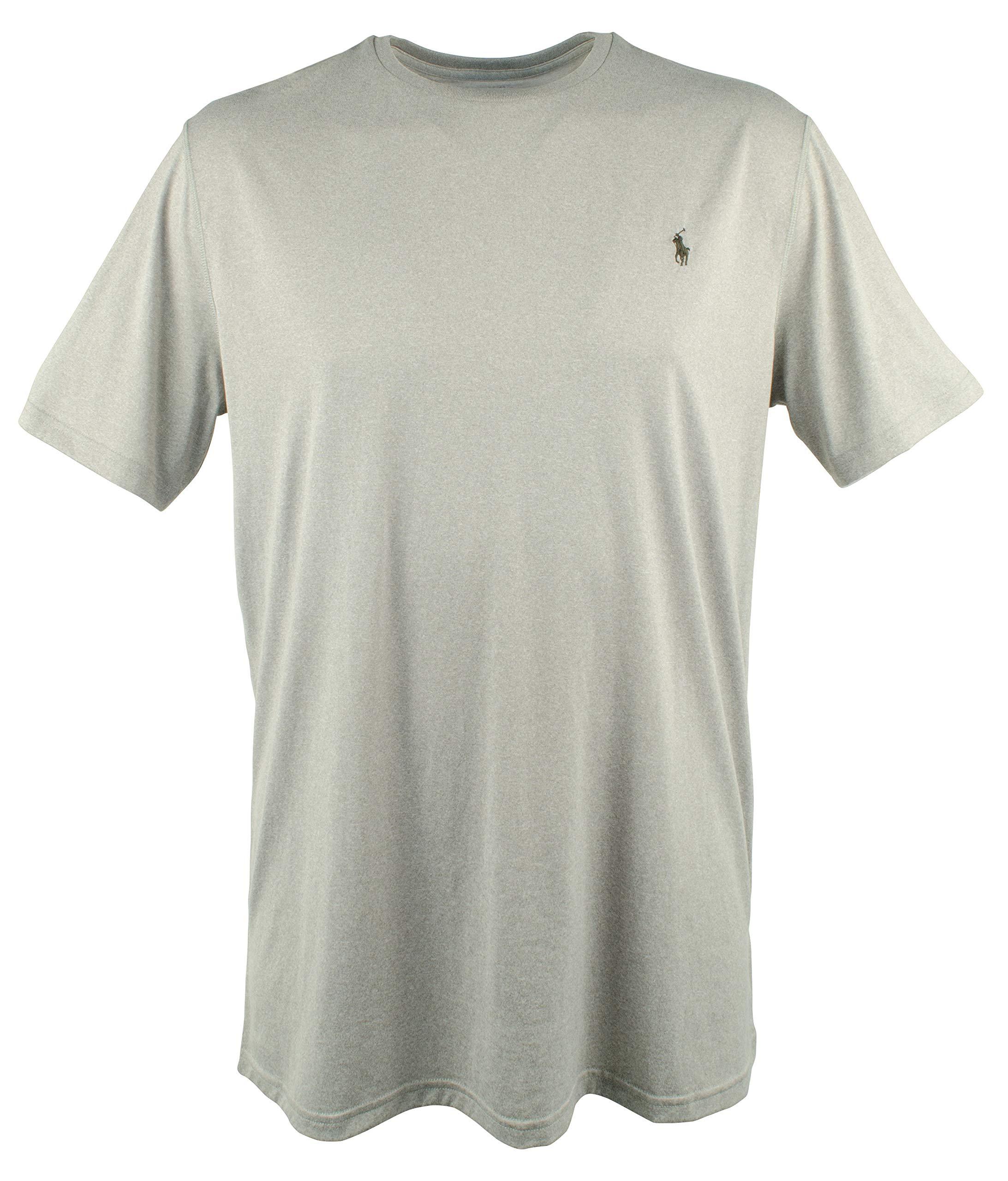 Polo Ralph Lauren Men's Big and Tall Performance Jersey T-Shirt-GH-3XB Grey Heather