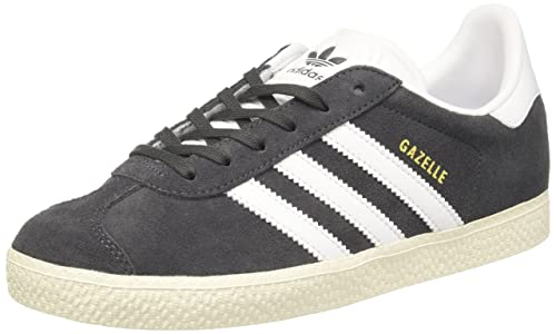 best website c3ff0 e77ea adidas Kid's Gazelle Junior's Trainers, (Solid Grey/Footwear White/Gold  Metallic)