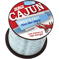 Zebco Cajun Line Smooth Cast Fishing Line, Clear Blue Bayou