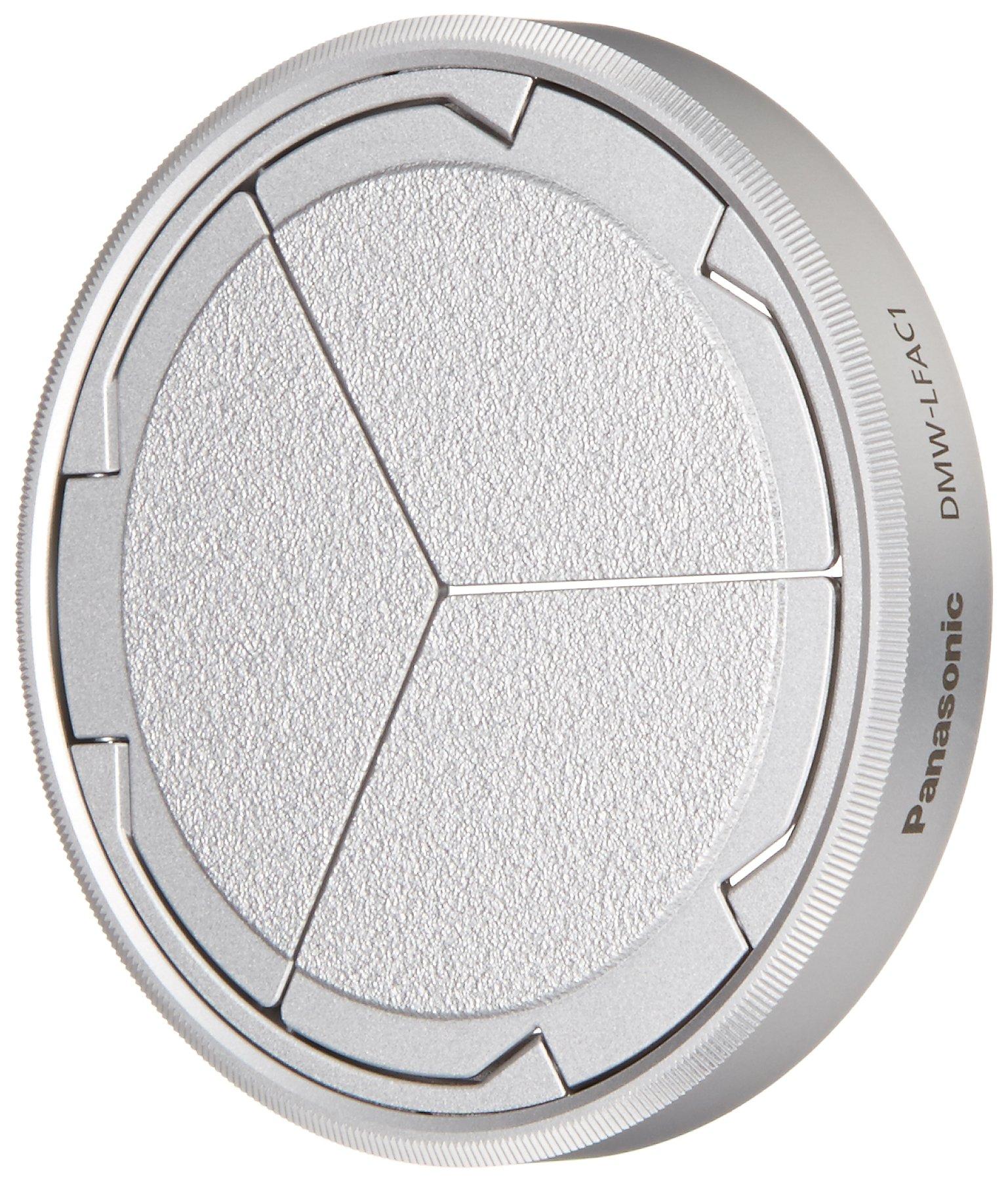 Panasonic DMW-LFAC1S Automatic Lens Cap for Lumix DMC-LX100, Silver by Panasonic