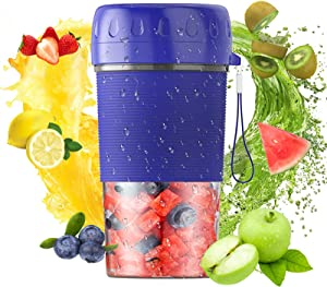Portable Blender, USB Rechargeable Personal Size Blender for Shakes and Smoothies, Juicer Cup Crushed-ice, Mini Handheld Fruit Juice Mixer For Sports, Office, Travel, Gym and Outdoors with BPA-Free