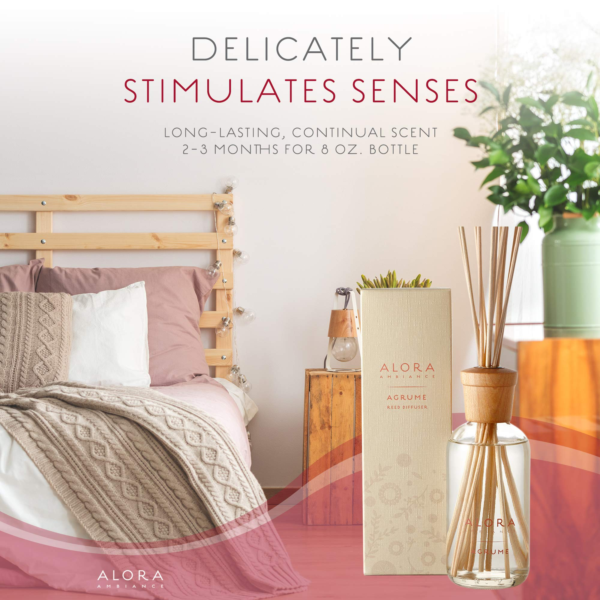 Alora Ambiance Reed Diffuser Agrume, 8 Oz by AloraAmbiance (Image #4)