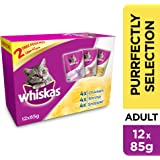 Whiskas Purrfectly Selection, Pouch Multipack, 85g x Pack of 12