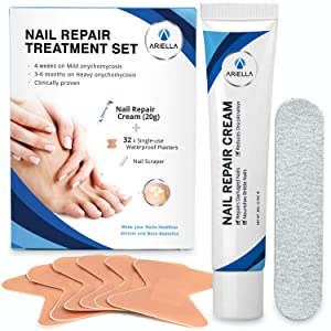 Ariella Toenail Fungus Stop Nail Repair Cream, Repairs and Protects from Discoloration, Nail Fungus Stop,Fungi Nail Fungus Remover set for Fingernail Fungus, Toenail Fungus Stop Nail Repair set