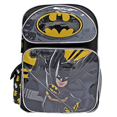 6ca686039997 Image Unavailable. Image not available for. Color  DC Comics Batman Black    Yellow Super Hero Large Boys  School Backpack