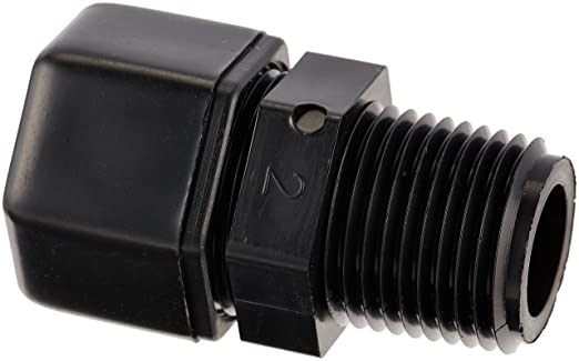 Parker Hannifin P8MC8 Fast & Tite Polypropylene Male Connector