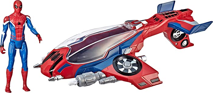 "Spider-Man, Far From Home Spider-Jet with – Vehicle Toy & 6"" -Scale Action Figure"