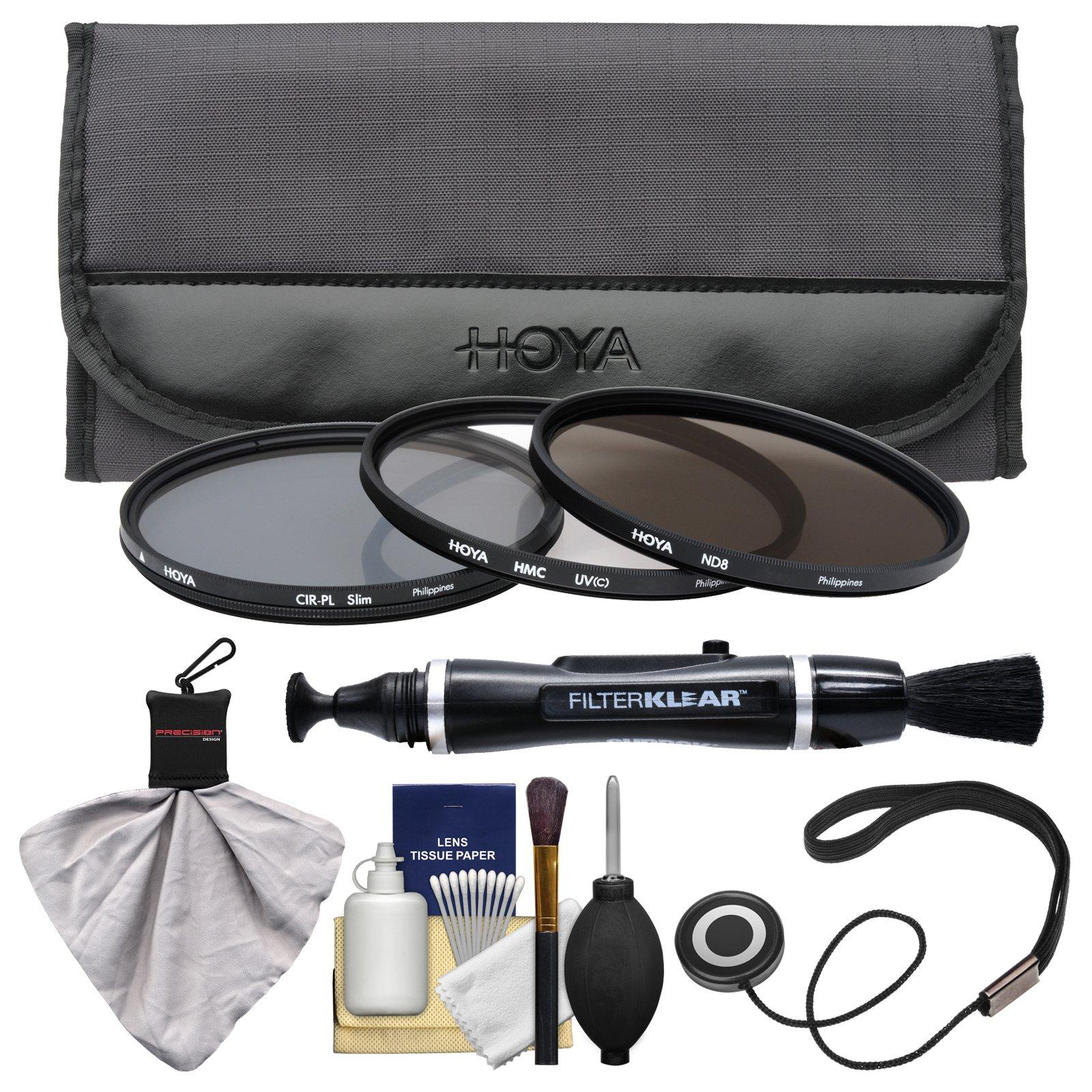 Hoya 52mm 3-Piece Digital Filter Set (HMC UV Ultraviolet, Circular Polarizer & ND8 Neutral Density) with Case + Cleaning Kit for Canon, Nikon, Sony, Olympus & Pentax Lenses