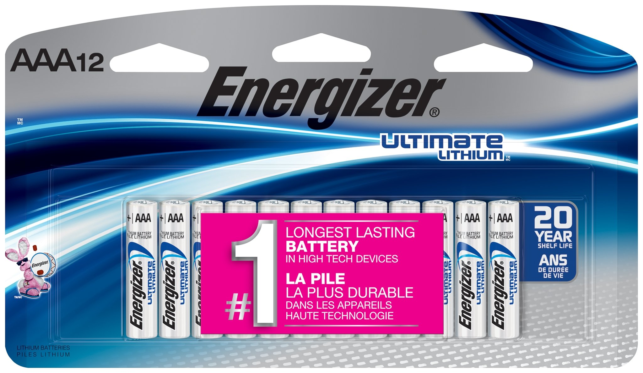 Amazon Com Energizer Ultimate Lithium Aa Batteries 12