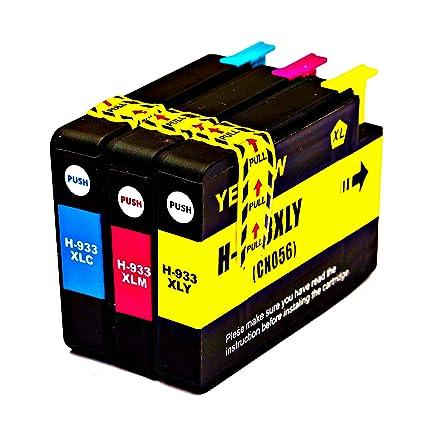 officeelite Reemplazo para HP 932 X L 933 X L Cartuchos de tinta ...