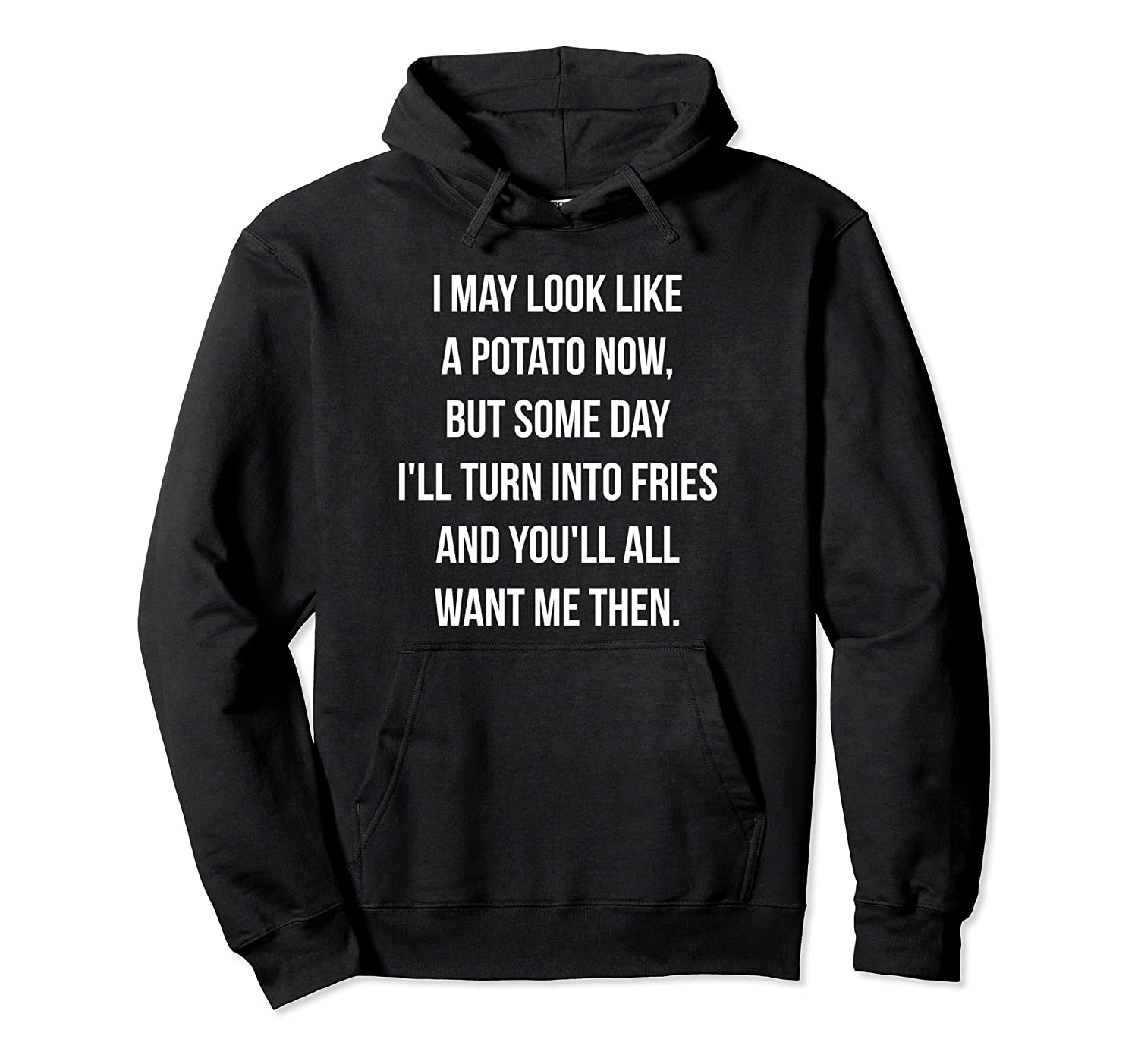 Transforming from Potato to Fries Funny Hoodie Sweatshirt-mt