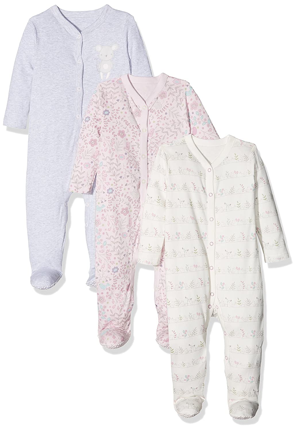 Mothercare Baby Girls' Squeak Sleepsuit PD303