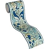 Architects Paper Bordüre Kind of White by Wolfgang Joop Borte Luxustapete klassisch floral 5,00 m x 0,13 m blau metallic Made in Germany 340781 34078-1