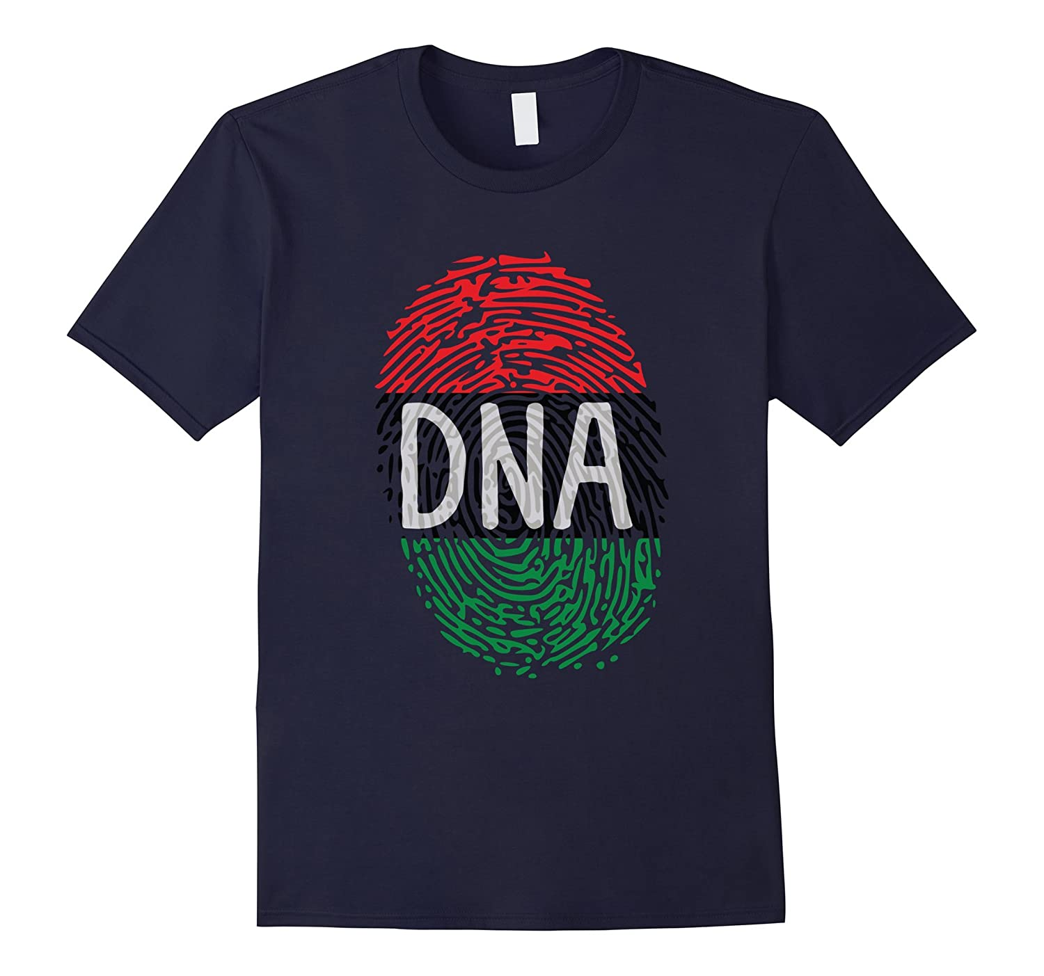 Africa DNA T Shirt Flag Thumb Fingerprint Roots Proud Tee-BN
