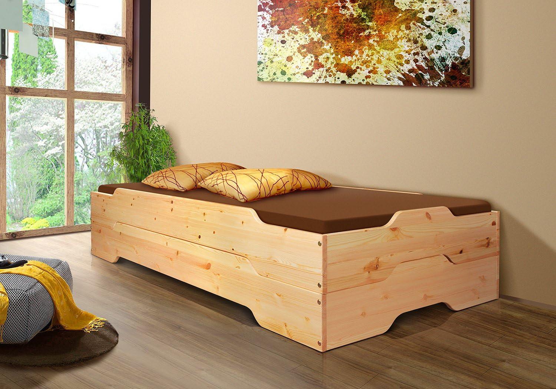 Pila de invitados o - MIA - 90 x 200 madera de pino maciza con listones 2 x