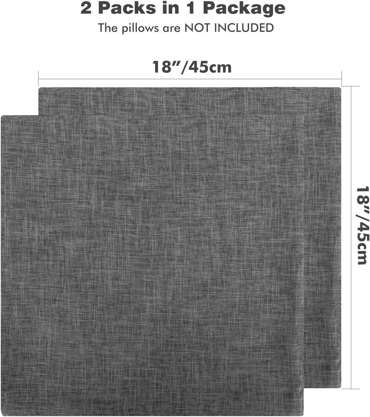 Couleur Unie Coussin et D/écoration de Canap/é Lewondr Taie doreiller en Lin Fin Linge de Lit Orange Rectangulaire et Souple 12 x 20 Pouces // 30 x 50 cm 2 Pi/èces
