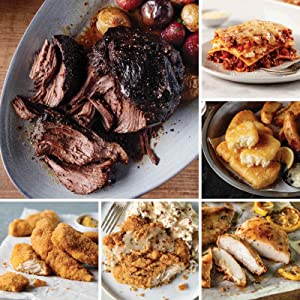 Mega Comfort Meals Sampler from Omaha Steaks (Fully Cooked Pot Roast, Italian Chicken Fingers, Chicken Fried Chicken, Fully Cooked Oven Roasted Chicken Breasts, Pub-Style Cod, and more)