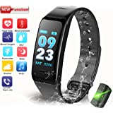 Fitness Tracker, 2018 Activity Tracker with Blood Pressure Heart Rate Monitors Colorful Display Bluetooth Sleep Monitor Sport Caloriesfor IOS Android Phones Adult Kids