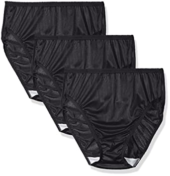 dd5a45edcd5 Shadowline Women's Panties-Hi Cut Nylon Brief (3 Pack) at Amazon Women's  Clothing store: